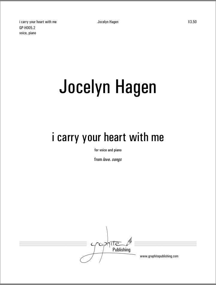 I Carry Your Heart With Me Jocelyn Hagen