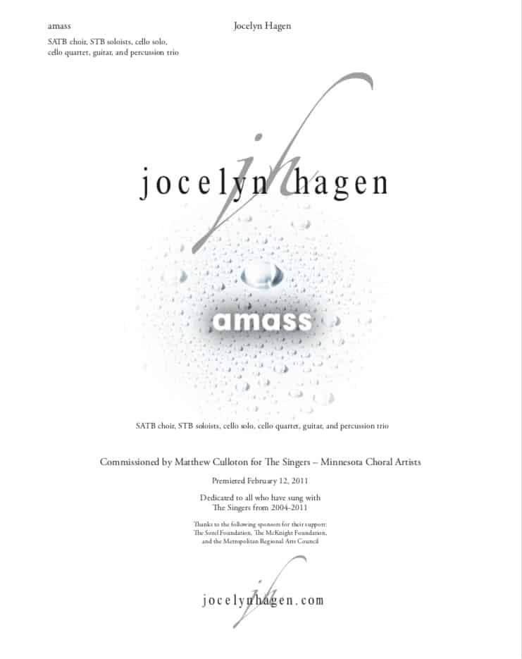 """University of Michigan Chamber Choir performs and records """"amass"""""""